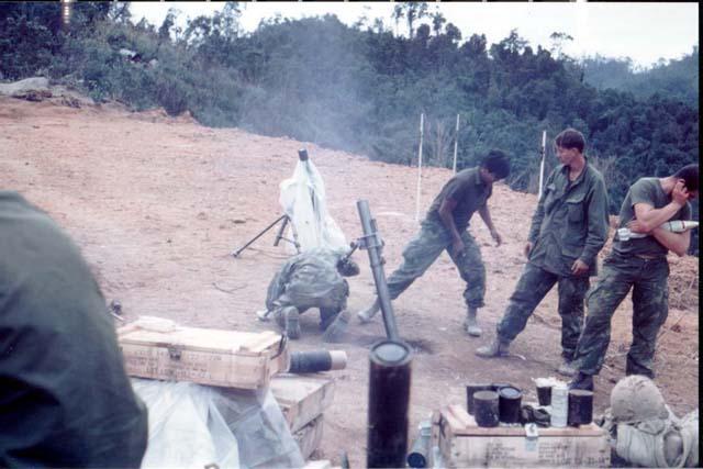 Vietnam Mortar Fire : Images of vietnam i corps
